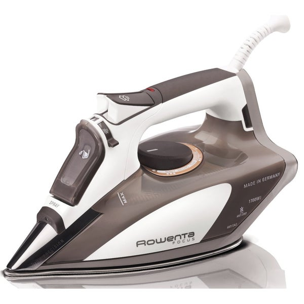 Rowenta DW5080 Beige Focus Auto Shut Off, 400-Hole Stainless Steel Soleplate Steam Iron, 1700-Watts