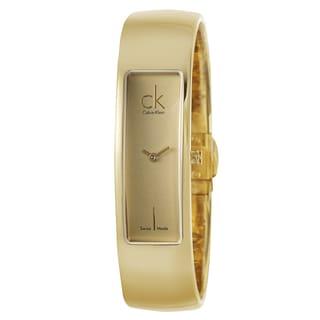 Calvin Klein Women's 'Element' Yellow-goldplated Stainless Steel Swiss Quartz Watch