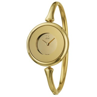 Calvin Klein Women's 'Sing' Yellow Gold-Plated Stainless Steel Swiss Quartz Watch