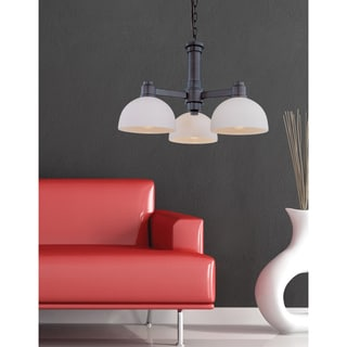Z-Lite 3-light Chandelier with White Shades