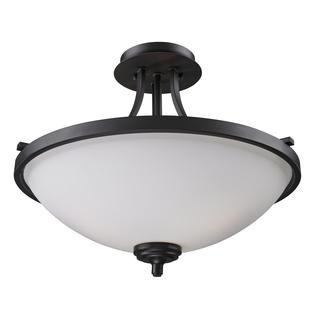 Z-Lite 3-light Black Semi-flush Indoor Mount