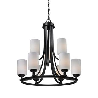 Z-Lite 9-light Oil Rubbed Bronze Waterfall Chandelier