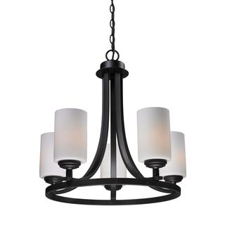 Z-Lite 5-light Oil Rubbed Bronze Waterfall Chandelier