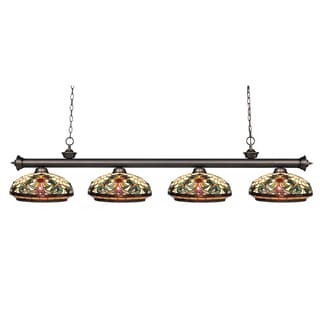 Z-Lite 4-light Olde Bronze Billiard Fixture
