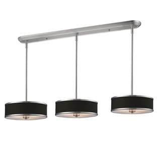Z-Lite Brushed Nickel 9-light Island/Billiard Fixture