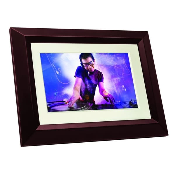 Philips 7-Inch Digital PhotoFrame Mahogany Wood