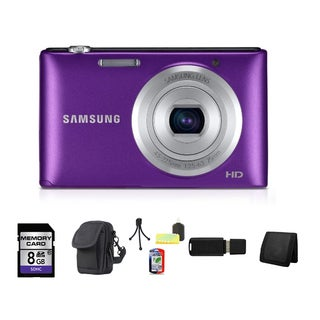 Samsung ST72 16.2MP Purple Digital Camera 8GB Bundle