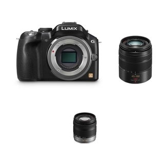 Panasonic Lumix DMC-G5 Body with 14-42mm Lens and 45-150mm Lens Bundle