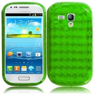 INSTEN Premium Neon Green TPU Rubber Candy Skin Phone Case Cover for Samsung Galaxy S3/ S III Mini