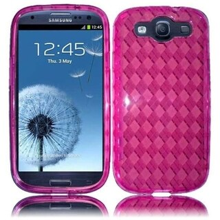 INSTEN Premium Hot Pink TPU Rubber Candy Skin Phone Case Cover for Samsung Galaxy S3/ S III