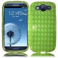 INSTEN Premium Neon Green TPU Rubber Candy Skin Phone Case Cover for Samsung Galaxy S3/ S III