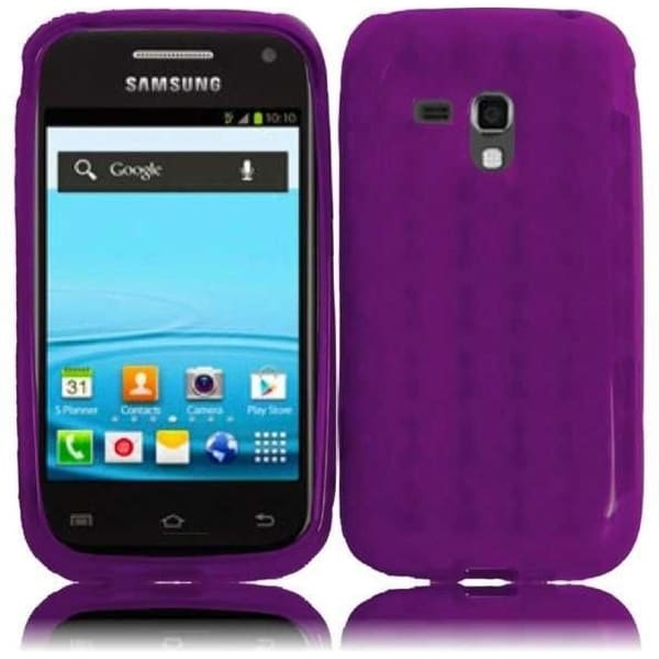 INSTEN Purple TPU Phone Case Cover for Samsung Rush M830