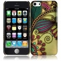 BasAcc Colorful Antique Flower Rubberized Hard Snap-on Phone Case Cover for Apple iPhone 5C