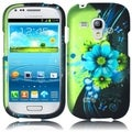 INSTEN Green Sublime Flower Rubberized Matte Hard Plastic Snap-on Phone Case Cover for Samsung Galaxy S3 Mini