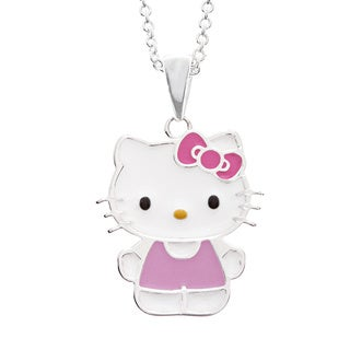 Hello Kitty Sterling Silver Plated Pendant