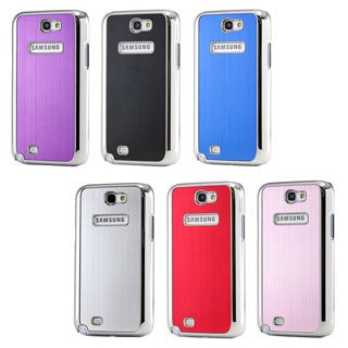 Gearonic Metal Aluminum Plating Hard PC Case for Samsung Galaxy Note 2 N7100