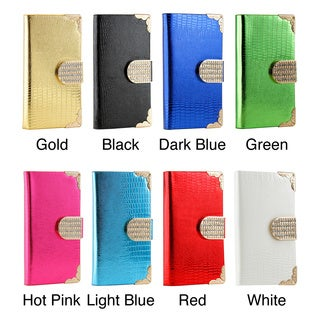 Gearonic Shiny Wallet PU Leather Magnetic Cover Case for iPhone 5 5S