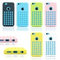 Gearonic Slim TPU Case with Holes Designed Back Cover for iPhone 5C