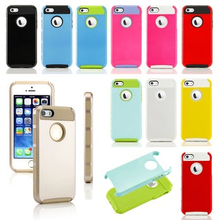 Gearonic PC and TPU Dirt Dust Proof Hard Case for Apple iPhone 5 5S