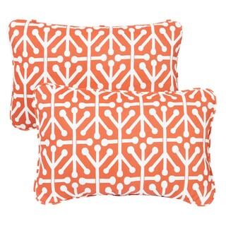 Dossett Orange Corded 13 x 20 inch Indoor/ Outdoor Throw Pillows (Set of 2)