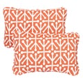Dossett Orange Corded 13 x 20 inch Indoor/ Outdoor Throw Pillows (Set of 2)