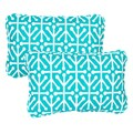Dossett Teal Corded 13 x 20 inch Indoor/ Outdoor Throw Pillows (Set of 2)