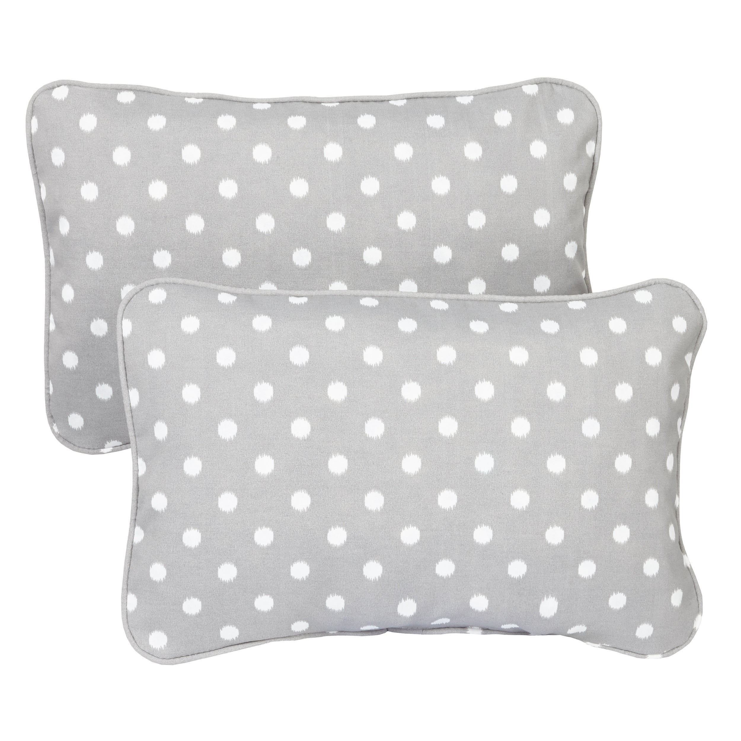 Grey Dots Corded 13 x 20 inch Indoor/ Outdoor Throw Pillows (Set of 2) at Sears.com