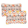 Floral Citrus Corded 13 x 20 inch Indoor/ Outdoor Throw Pillows (Set of 2)
