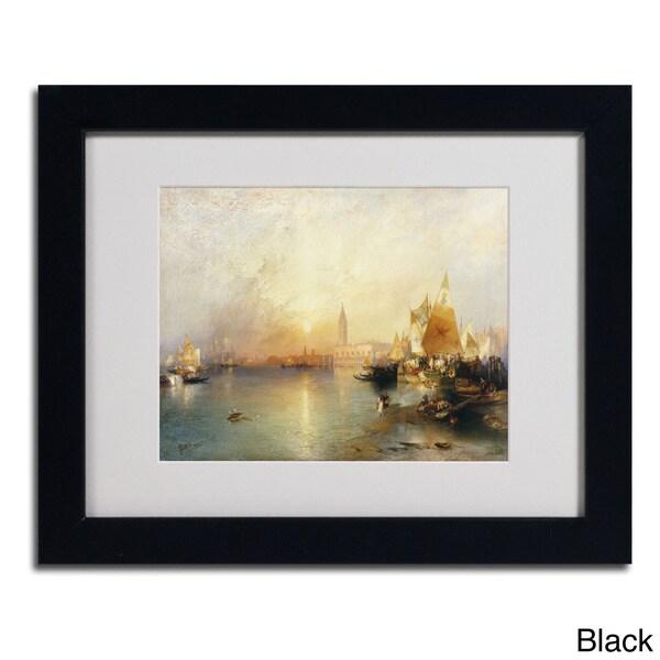 Thomas Moran 'Sunset Venice 1902' Framed Matted Art