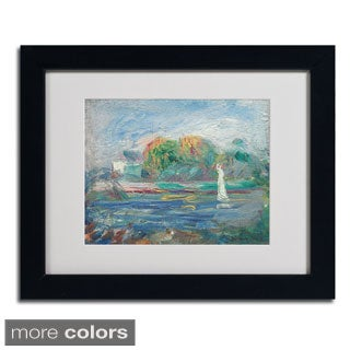 Pierre Renoir 'The Blue River 1890-1900' Framed Matted Art