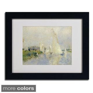 Pierre Renoir 'Regatta at Argenteuil 1874' Framed Matted Art