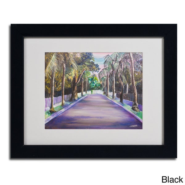 Judy Harris 'Key West Street' Framed Matted Art
