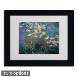 Claude Monet 'Water Lilies 1840-1926' Framed Matted Art
