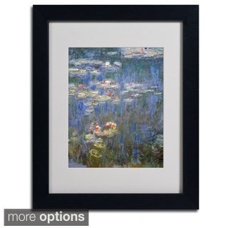 Claude Monet 'Water Lilies IV 1840-1926' Framed Matted Art