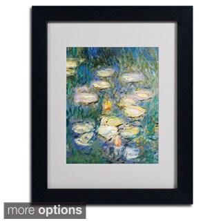 Claude Monet 'Water Lilies V 1840-1926' Framed Matted Art