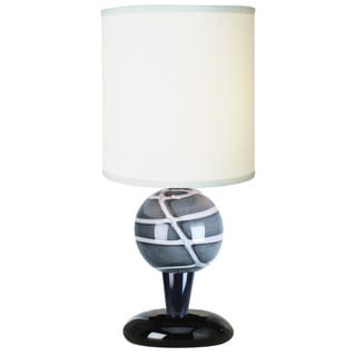'Mystic' Ebony Laquer Sahara Glass Accent Lamp