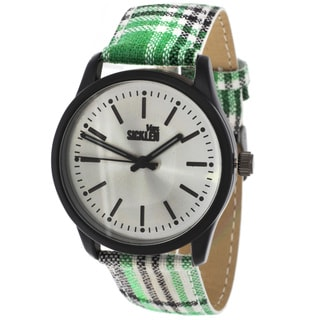 Van Sicklen Men's Plaid Green Watch