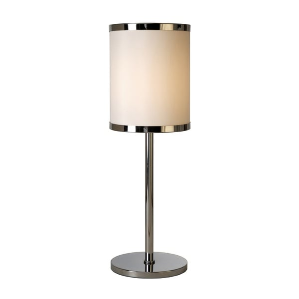 'Lux II' Off-white Chrome Trim Table Lamp