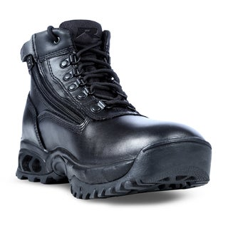 Mens' Mid Side Zip All Leather Waterproof Boots