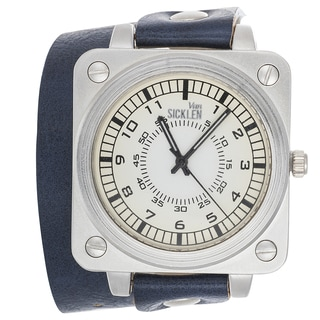 Van Sicklen Men's Blue Leather Double Strap Watch