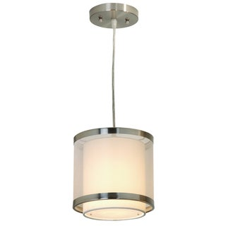 'Lux' Small Brushed Nickel Minimalist 1-light Pendant