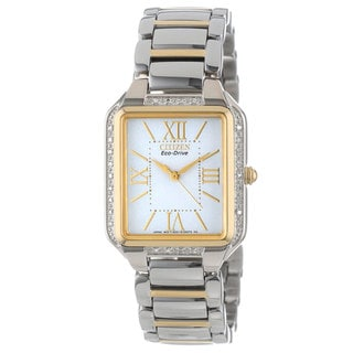 Citizen Women's Gold-Tone/Silver-Tone Bracelet Ciena Diamond Watch
