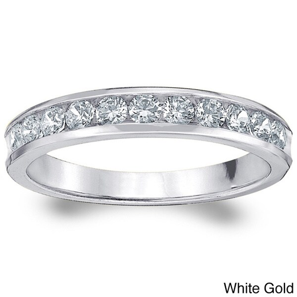 Amore 14k Gold 1/2ct TDW Machine-set Diamond Wedding Band (H-I, I1-I2)