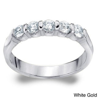 Amore 14k White or Yellow Gold 1/2ct TDW Diamond Wedding Band (H-I, I1-I2)