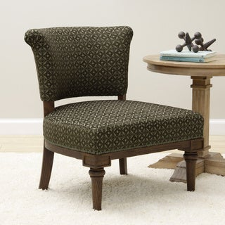 Chocolate/ Olive Armless Lounge Chair