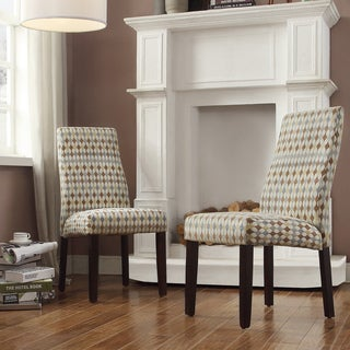 INSPIRE Q Marcey Diamond Impressions Wave Back Dining Chair (Set of 2)