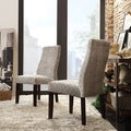 INSPIRE Q Marcey Grey Link Wave Back Dining Chair (Set of 2)
