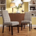 Inspire Q Kiess Chain-link Print Wave Back Parson Chairs (Set of 2)