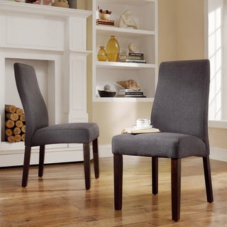Inspire Q Kiess Dark Grey Wave Back Parson Chairs (Set of 2)