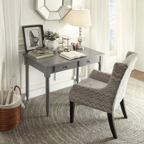 INSPIRE Q Jourdan Grey Chevron Sloped Arm Hostess Chair